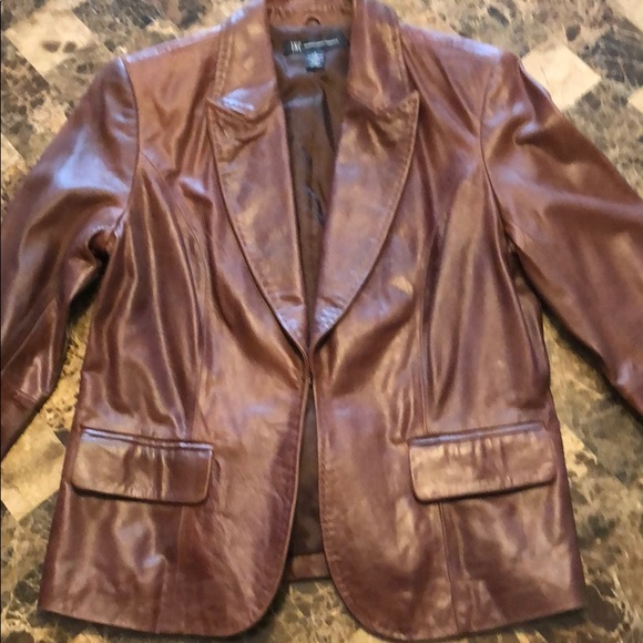 INC leather jacket, new without tags